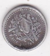 Guatemala 1/2 Real 1879 , En Argent, KM# 152 - Guatemala