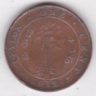 Ceylon One Cent 1912 George V KM# 107 - Sri Lanka