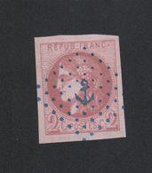 Faux, Fac-similé N° 40, 2 C Cérès Oblitération Ancre - 1870 Emissione Di Bordeaux