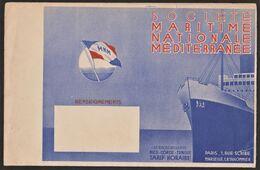 Pochette Publicitaire Société Maritime Nationale Méditerranée - ( Nice - Corse - Tunisie ) - Dimension+ étiquette Bagage - Pubblicitari