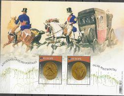 BELGIUM, 2020, MNH, EUROPA, ANCIENT POSTAL ROUTES, HORSES, CARRIAGES, SHEETLET - Europa-CEPT