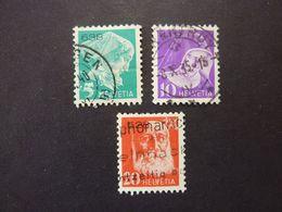 SUISSE, Année 1935, Timbres De Franchise,  YT N° 13A-14A-15A Oblitérés (cote 19 EUR) - Franchise