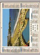 Almanach Des P.T.T 1969 - Courchevelle Biarritz - Lot & Garonne Agen - Chats Chasse Ski Chiots Poussins Pêche St-Servan. - Calendari