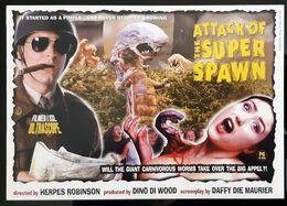 Attack Of The Super Spawn Movie Film Carte Postale - Affiches Sur Carte