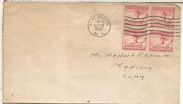 ESTADOS UNIDOS USA JUEGOS OLIMPICOS DE INVIERNO 1932 LAKE PLACID CON RARA VIÑETA AL DORSO - Winter 1932: Lake Placid