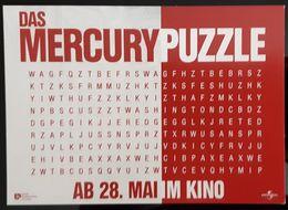 Das Mercury Puzzle Movie Film Carte Postale - Affiches Sur Carte