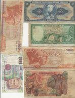 LOT DE 17 BILLETS -ARGENTINE-GRECE-BELGIQUE-YOUGOSLAVIE-ESPAGNE-ALLEMAGNE-CEYLAN-ITALIE -LIBAN-BRESIL-ALGERIE - Lots & Kiloware - Banknotes