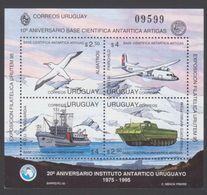ANTARCTIQUE URUGUAY 1995 BLOC 10è Anniv. Base Artigas N° 54 Y&T Neuf ** Mnh - Sin Clasificación