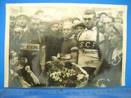Photo De Cyclisme, Vélo .gabriel Dubois, Fernand Lemay, Paul Botquint . Grand Format. . A Situer . 2 Scans . - Cycling
