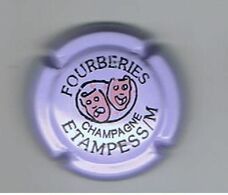 "CAPSULE-ETAMPES / MARNE-""FOURBERIES""-(SERIE DE 3 CAPSULES)- - Champagne"