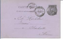 POISSONS Haute Marne CAD Type 18 Sur 10c ENTIER Sage Cachet Epicerie DUPOND 1885   ...G - 1877-1920: Période Semi Moderne