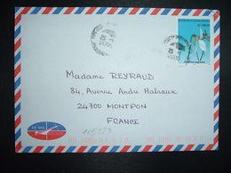 LETTRE Pour La FRANCE TP JUMELLEA SAGITTATA 1.500 Fmg OBL.25-1 2006 DIEGO SUAREZ - Madagascar (1960-...)