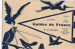 GUIDES DE FRANCE  Compagnie N. D. De JOIE   3è Paris (Equipes Hiboux Coucous Alouettes Aigles Rouge-gorges Cigognes) - Pfadfinder-Bewegung