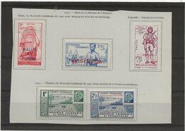 WALLIS ET FUTUNA - N° 87 A 91 NEUF CHARNIERE PROPRE -ANNEE 1941 - Unused Stamps