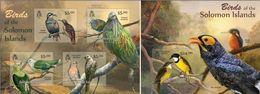 Salomon 2013, Animals, Birds Of Solomon, 4val In BF +BF - Songbirds & Tree Dwellers