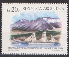 ANTARCTIQUE ARGENTINE 1984 1 TP 100è Anniv. Fondation Ushuia Neuf ** Mnh - Francobolli