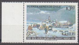 ANTARCTIQUE CHILI 1981 1 TP 1er Anniv. Base Aérienne Lieutenant Marsh N° 564 Y&T Neuf ** Mnh - Francobolli