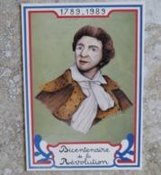 CP Bicentenaire De La Révolution Française Portrait De Marat Né à BOUDRY Dessin Guy Coster Ed Equinoxe - Histoire