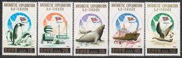 ANTARCTIQUE COREE NORD 1991 5 TP Exploration Nord Coréenne N° 2203 à 2207 Y&T Neuf ** Mnh - Francobolli