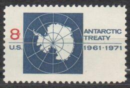 ANTARCTIQUE ETATS UNIS 1971 1 TP 10è Anniv. Traité Antarctique N° 924 Y&T Neuf ** Mnh - Briefmarken