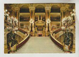 2 CPM PARIS 2° ARRONDISSEMENT - THEATRE DE L'OPERA : L'Escalier D'Honneur, La Salle - Distretto: 02