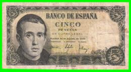 ESPAÑA BILLETE DE 5 Ptas. AÑO 1951 - [ 3] 1936-1975 : Regime Di Franco