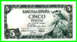 ESPAÑA // -- 5 PESETAS ( 1954 ) – H 2766308 - [ 3] 1936-1975 : Regime Di Franco