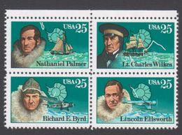 ANTARCTIQUE ETATS UNIS 1988 4 TP Se Tenant Explorateurs N° 1828 à 1831 Y&T Neuf ** Mnh - Briefmarken