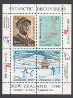 ANTARCTIQUE NOUVELLE ZELANDE 1990 4 TP Se Tenant World Stamp Exhibition (1) Neuf ** Mnh - Francobolli
