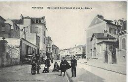 95,PONTOISE,Boulevard Des Fossés Et Rue De Gisors, Animations, Scan Recto-Verso - Pontoise