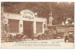 NEVERS (58) Devanture Auto Garage Decelle Automobiles Gros Plan - Nevers