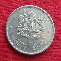 Morocco 1 Dirham 1968 Y# 56 *V1 Maroc Marrocos Marokko Marruecos - Marokko