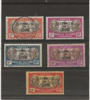 WALLIS ET FUTUNA -  N° 61 A 65 OBLITERE -ANNEE 1930-38 - COTE :15,25 € - Wallis And Futuna