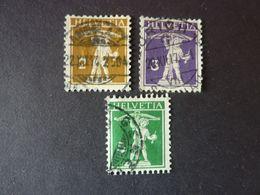 SUISSE, Année 1910, YT N° 134-135-136 Oblitérés - Switzerland