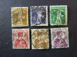 SUISSE, Année 1909, YT N° 128 à 133 Oblitérés - Switzerland
