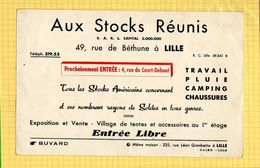 BUVARD : Aux Stocks Reunis  LILLE - Schuhe