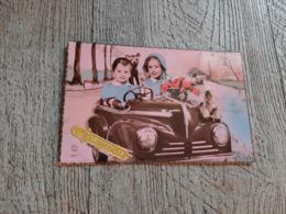Carte  Enfant Dans Renault 4CV Ou Peugeot 203 Automobile  Humour - Passenger Cars