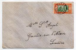 Sénégal -1936--Lettre De DAKAR  Pour GRENADE/ ADOUR-40 (France)..timbre. Cachet Manuel - Lettres & Documents