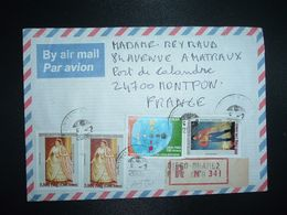 LR à FRANCE TP RANAVALONA II 7.500 Fmg X2+DIALOGUE 3.500 Fmg+RADAMA I 500 Fmg OBL.6-2 2006 ANTSIRANANA DIEGO SUAREZ - Madagascar (1960-...)