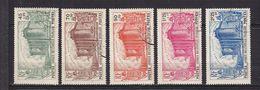 AEF 72/76   OBLITERES RARES - A.E.F. (1936-1958)