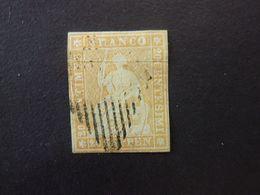 SUISSE, Année 1854-62, YT N° 29a Oblitéré (cote 145 EUR) - 1854-1862 Helvetia (Imperforates)