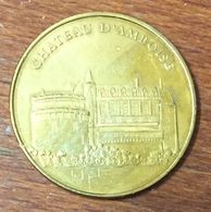 37 CHÂTEAU D'AMBOISE MEDAILLE TOURISTIQUE MONNAIE DE PARIS 2010 JETON MEDALS COINS TOKENS - Monnaie De Paris