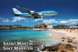 CPM - St MARTIN - Atterissage BOEING 747 - Cie KLM … - Aérodromes