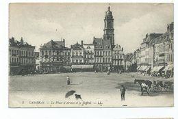 France Postcard Cambrai La Place D'armes Et La Bellroi On Active Service. Army Post Office . Censor Mark   1919 - Cambrai