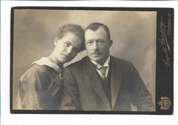 Y17082/ Kabinettfoto Junge Paar, Fotograf L. Steinberg, Piatra Rumänien Ca.1905 - Fotos
