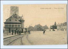 U9899/ Saint-Ghislain  Place De La Gare  Belgien AK 1916 - België