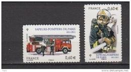 2011-N°601/602** SAPEURS POMPIERS - Adhésifs (autocollants)