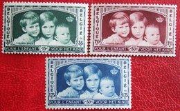 KoningsKinderen Child Welfare Complete Set 1935 OBP 404-406 (Mi 396-398) POSTFRIS/ MNH **BELGIE BELGIUM - Nuevos