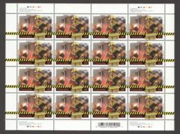 2003 Volunteer Firefighters- Complete MNH Sheet Of  16   Sc 1986** - Feuilles Complètes Et Multiples