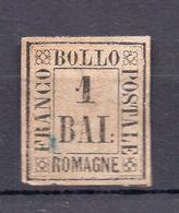 1859. ITALY, ROMAGNA, 1 BAI. POSTAL STAMP, MH - Romagna